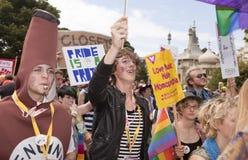 Celebração alegre da parada do orgulho de Brigghton fotografia de stock royalty free