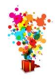 Celebração artística abstrata do aniversário ilustração do vetor