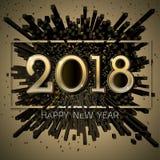 Celebração BG do ano novo feliz do vetor 2018 Fotos de Stock