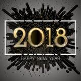 Celebração BG do ano novo feliz do vetor 2018 Foto de Stock