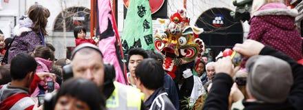 Celebração chinesa do ano novo, 2012 Fotos de Stock Royalty Free