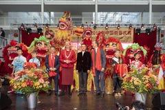 Celebração 2019 chinesa do ano novo foto de stock royalty free