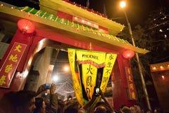 Celebração chinesa do ano novo em Kolkata Fotos de Stock Royalty Free