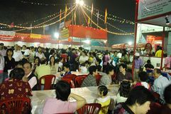 A celebração chinesa do ano novo em Kolkata-India Imagens de Stock