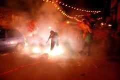 A celebração chinesa do ano novo em Kolkata-India Imagem de Stock Royalty Free
