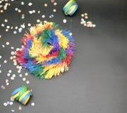 Celebração colorida do carnaval imagem de stock