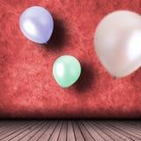 Celebração com balões Imagens de Stock Royalty Free