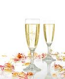 Celebração com champanhe imagens de stock royalty free
