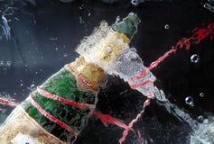 Celebração com champanhe. Imagens de Stock