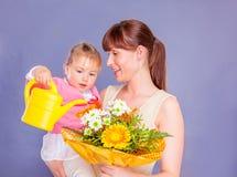 Celebração com flores imagens de stock