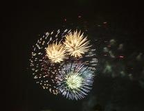 Celebração com fogos-de-artifício fotos de stock