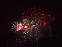 Celebração com fogos-de-artifício imagem de stock