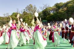 Celebração coreana para iluminar o festival de lanterna Fotos de Stock Royalty Free