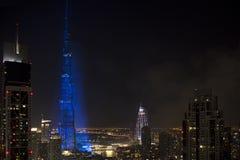 Celebração da concessão da expo 2020 de Dubai Imagem de Stock