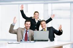 Celebração da equipe do negócio Foto de Stock