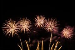 Celebração da exposição dos fogos de artifício imagem de stock