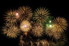 Celebração da exposição dos fogos de artifício imagens de stock royalty free
