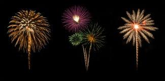 Celebração da exposição dos fogos de artifício imagens de stock