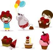 Celebração da festa de anos Foto de Stock