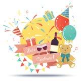 Celebração da festa de anos Fotografia de Stock