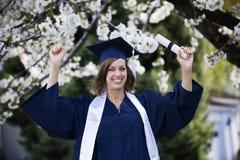 Celebração da graduação imagem de stock