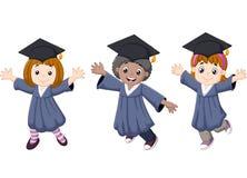 Celebração da graduação dos desenhos animados ilustração do vetor