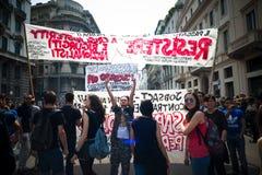 Celebração da libertação realizada em Milão o 25 de abril de 2014 Foto de Stock