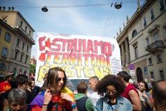 Celebração da libertação realizada em Milão o 25 de abril de 2014 Imagem de Stock