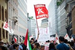 Celebração da libertação realizada em Milão o 25 de abril de 2014 Imagem de Stock Royalty Free
