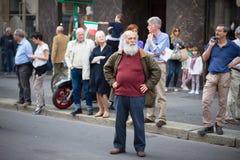 Celebração da libertação realizada em Milão o 25 de abril de 2014 Fotos de Stock Royalty Free