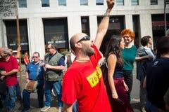 Celebração da libertação realizada em Milão o 25 de abril de 2014 Fotografia de Stock Royalty Free