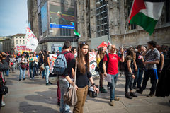 Celebração da libertação realizada em Milão o 25 de abril de 2014 Imagens de Stock Royalty Free