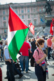 Celebração da libertação realizada em Milão o 25 de abril de 2014 Imagens de Stock