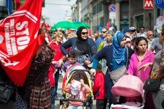 Celebração da libertação realizada em Milão o 25 de abril de 2014 Fotos de Stock