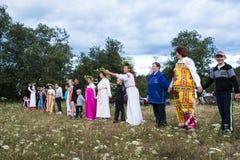 Celebração da noite de Ivan Kupala Imagens de Stock
