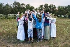 Celebração da noite de Ivan Kupala Imagens de Stock Royalty Free