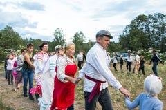 Celebração da noite de Ivan Kupala Fotos de Stock Royalty Free