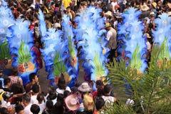 Celebração da parada de Sinulog Cebu foto de stock royalty free