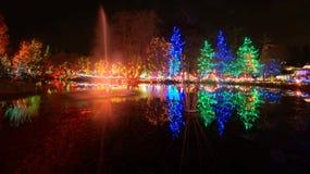 Celebração das luzes de Natal imagens de stock