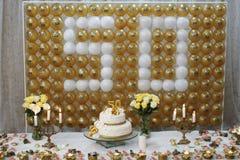 Celebração de cinqüênta Fotografia de Stock Royalty Free