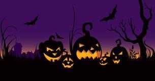 Celebração de Halloween no jardim Foto de Stock Royalty Free