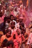 Celebração de Holi em Barsana Imagem de Stock