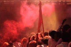 Celebração de Holi em Barsana Foto de Stock