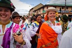 Celebração de Inti Raymi em Cayambe, Equador fotografia de stock royalty free