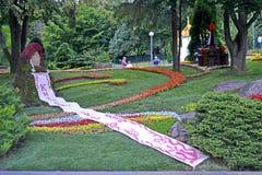 A celebração de Kyivan Rus Christianity em Kiev, flores projeta, imagens de stock royalty free