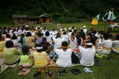Celebração de Melasti em Indonésia Fotos de Stock Royalty Free