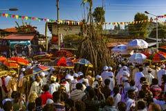 Celebração de Meskel, Lalibela, Etiópia foto de stock