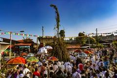 Celebração de Meskel, Lalibela, Etiópia fotos de stock