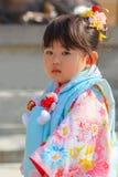celebração de Shichi-ir-san em Dazaifu Tenmangu Fotos de Stock Royalty Free