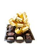 Celebração de um dia especial com chocolates finos fotografia de stock royalty free